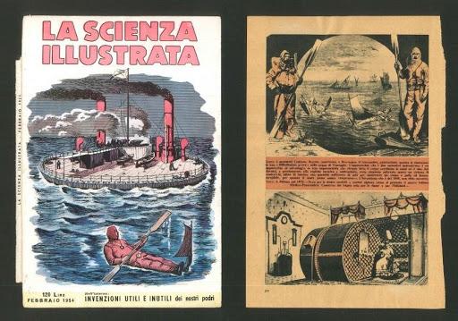 la scienza illustrata - storia della subacquea